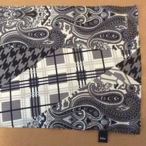 Echo oblong scarf multi pattern paisley & plaid